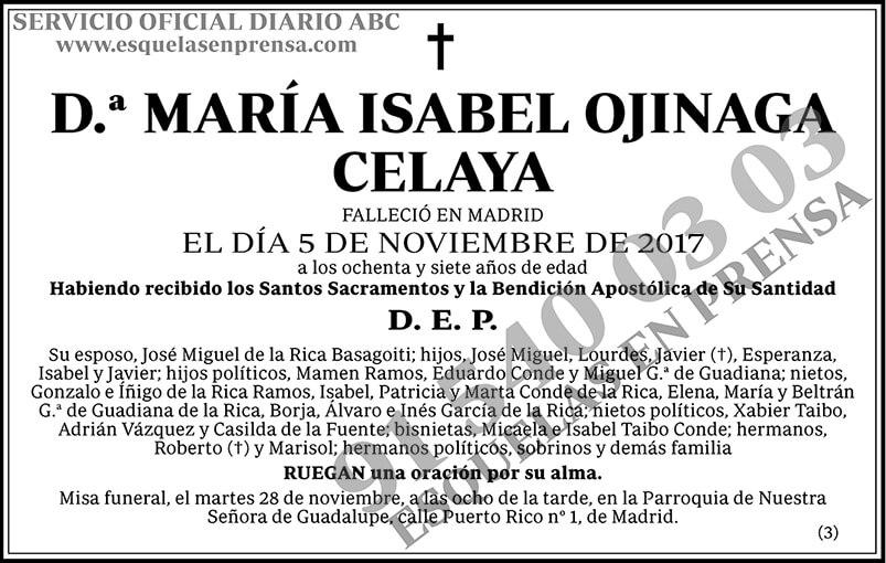 María Isabel Ojinaga Celaya